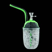 Plastikraucher-Rohr-Silikonbongs-Wasserbong-Rohrhaare mit Glasschüssel Freeze-Kühlkup-Bubbler