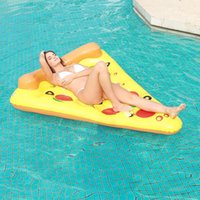 Life Vest & Buoy Pizza Floating Row Mount Adult Ins Swimming Ring Bed Lounge Chair Aquatic Products Lifebuoy Floaties For Adults