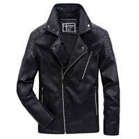 Men's Fur & Faux 2021 Autumn Winter Motorcycle PU Leather Jackets Men Hip Hop Rock Male Zippers Fleece Moto Jacket Coats L-6XL