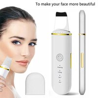 Ultrasonic Skin Scrubber,Blackhead Remover Pore Cleaner with 4 Modes Facial Spatula for Deep Cleansing Beauty Instrument