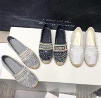 Luxurys Casual Femmes Chaussures Espadrilles Designers d'été Mesdames Plat-Plat Demi-pantoufles Mode Femme Fishers Fisherman Toilet avec boîte Taille 34-42