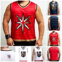 Abn Las Vegas Golden Knights Hockey Tank Black Blue White customize any number and name JERSEY