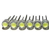 Beads de luz 100 pçs / lote branco 5mm chapéu de palha de f5 LED lâmpada de cristal lâmpada de cristal grande núcleo 6-7LM emitindo diodos leds luzes diy