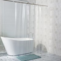 Transparent Shower Curtain Waterproof Clear White PEVA Bath Curtains Liner For Bathroom Mildew Home El With Free Hooks