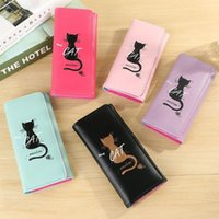 Women Long Wallets Fashion Lady Wristlet Handbags Simple Cat Money Bag Coin Purse Cards ID Holder Clutch Woman Wallet #0813