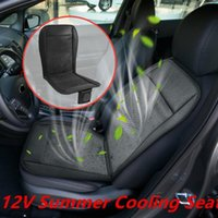 Car Cushion Cooling Seat 12V Summer Cool Ventilation Air Fan Massage Conditioning 2 Speeds Low high Covers