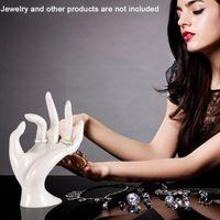 Hooks & Rails Jewelry Display Stand Plastic Mannequin Ok Hand Necklace Home Ring Holder Supplies Desktop Storage Ornament Watch Bra K0c5
