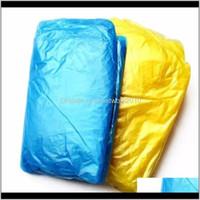 OneTime PE Raincoat Moda Aquilazione monouso Poncho Poncho Rainwear da viaggio Cappotto Pioggia Abbigliamento per viaggiare a casa Shopping 2t2ko Exowj