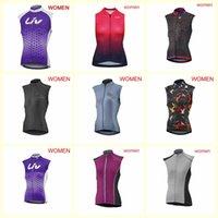 Liv Team Cycling Stickey Jersey Gilet Donne Estate ciclismo Senza maniche Jersey Road MTB Abbigliamento Abbigliamento rapido B622-10