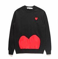 2021 Inverno Mens Designer Hoodies com coração padrão de moda de moda impressão moletom para homens mulheres streetwear tops 6 estilos