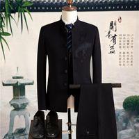 Men's Suits & Blazers Suit Pants Vest 3 Pieces Sets   2021 Fashion Casual Boutique Business Dress Jacket Coat Trousers Waistcoat
