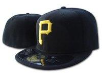 2021 새로운 남성 피츠버그가 장착 된 야구 모자 플랫 브림 스포츠 팀 아래 붉은 색 도시 이름 폐쇄 캡 한 조각