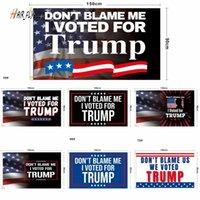 DHL Hot Не вините меня, я проголосовал за Трамп 90 * 150см баннерные флаги Трамп 2024 Флаг Президент BiDen Trump Флаги избрания снова Великий Полиэстер HJ08