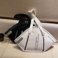 PB0007 Moda Bolsas de personalidad Creativa Máscara Estilo Diseñador Bolso Bolso Hombro Gran Capacidad Compras Negro Blanco 2 colores