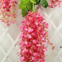 Wisteria Decorazione di nozze fiore flower glicine artificiale fiore di seta lungo 110 cm bianco viola rosso verde hwe9102