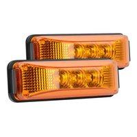 3.9inch 3 LED Truck Trailer Light Front Side Segnacciatore posteriore Luci LUCI INDICATORE LAMPADA Lampada impermeabile Emergenza