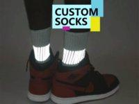 wholesale Custom 3D sublimated digital photo dye blank polyester printed socks sox crew sublimation socks stock