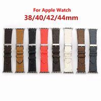 فاخر مصمم watchbands ووتش الفرقة 42 ملليمتر 38 ملليمتر 40 ملليمتر 44 ملليمتر iwatch 2 3 4 5 العصابات جلدية حزام سوار الأزياء المشارب watchband