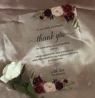Greeting Cards Thank You Cards,Acrylic Wedding Invitations,Burgundy Red Rose Acrylic Christening Invitations,Custom 10pcs Transparent Invite