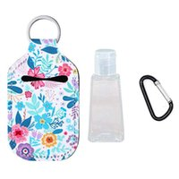 Storage Bottles & Jars 3Pcs Set 30ml Travel Bottle Refillable Portable Hand Sanitizer With Keychain Holder Cover Reusable