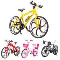 110 mini-alliage Modèle de vélo Diecast Métal Finger Mountain Vélo Racing Jouet Jouet Collection de simulation Road Toys pour enfants