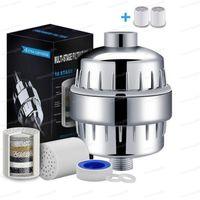 10-15 Etapa Filtro de ducha 2 Cartuchos reemplazables Kit Eliminación de agua El cloro reduce la cloramina de flourides filtrada