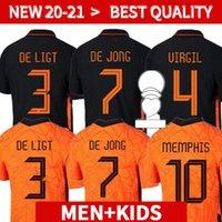 Memphis 2021 Países Baixos Camisa de Futebol Versão de Jong Holland de Ligt Stotman Van Dijk Virgil 2022 Jersey Jersey Adulto Men + Kids K