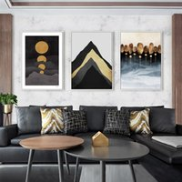 Paintings Abstract Geometric Pattern Landscape Moon Modern Decor Canvas Painting Art Print Poster Picture Wall Kids Home Decoration