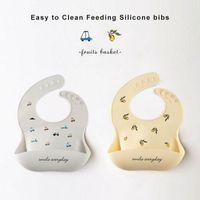 Bibs & Burp Cloths INS Maternal And Child Supplies Baby Bib Waterproof Children's Silicone Saliva Pinny Disposable Summer