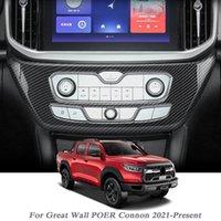 Cylisme de voiture pour grand mur Poer Connon 2021-Présent Centre interne Panneau de commande Cadre Souche Sticker Intérieur Accessoires d'auto