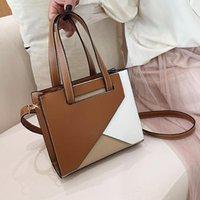 Evening Bags Fashion Panelled Designer Tote Women Zipper Small Flap Shoulder Ladies Pu Leather Handbag Female Crossbody Bag Girl
