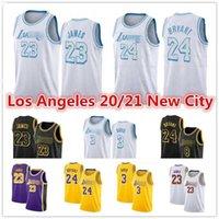 Hommes 2021 Nouveau Los Anthony 3 Davis Angeles LeBron 23 James Jersey Yellew Blanc Blanc Alex 4 Caruso Bryant Kyle 0 Kuzma Basketball Jerseys
