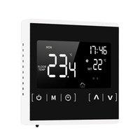 Akıllı Ev Kontrolü Programlanabilir Elektrikli Yerden Isıtma Sistemi Için LCD Dokunmatik Termostat Termostat Termoregülatör AC Sıcaklık Kontrol