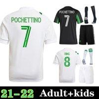 2021 2022 Austin FC Jerseys de futebol homens adulto inaugural mls 21 22 kleber xavier baez personalizar camisas de futebol kit kit + meias
