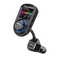 Bluetooth Car Kit FM Trasmettitore Vivavoce QC 3.0 USB Caricabatterie telefonico Wireless Radio Ricevitore radiofonico MP3 Player Supporto TF Scheda U Disco