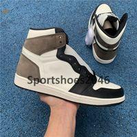 Jumpman 1 High Og Dark Mocha Travis Scotts Obsidian Баскетбольные туфли UNC Mens Дань уважением домой Королевские синие женские спортивные кроссовки