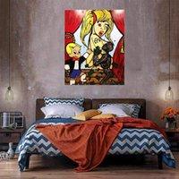 Kız Büyük Yağlıboya Tuval Üzerine Ev Dekor El Sanatları / HD Baskı Duvar Sanatı Resimleri Özelleştirme Kabul Edilebilir 21050925