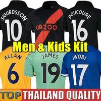20 21 Everton Jerseys de fútbol James Allan Doucoure Football Step Shirtkeeper 2020 2021 Kean Richarlison Portero Tailandia Men Kit Kit Uniformes