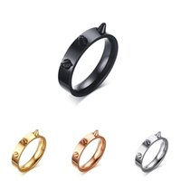 Wedding Rings Punk Style Trendy High Quality Stainless Steel Anti - Wolf Ring Fashion Engagement Women Finger