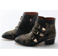 boot susanna studded women's toe flower martin luxury boots mujer zapatos