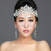 bridal Hairbands Crystal Headbands women Hair Jewelry Wedding accessories crystal Tiaras And Crowns Head Chain X0726