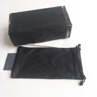 Marca Deportes Gafas de sol Caja Caja negra Caja de anteojos Caja de gafas de alta calidad Paquete de gafas de paño