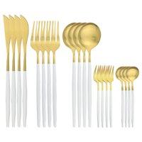 20piece conjunto de talheres de cutelaria em aço inoxidável conjunto de utensílios de cozinha conjunto de cozinha de cozinha rosa de prata de prata utensílios reutilizáveis home talheres 1341 v2