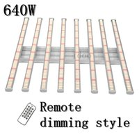 GROW Lights Dimmable 640W Spider 8 bars Full spectrum Samsung LM281B+ bar For indoor Plants with remote control