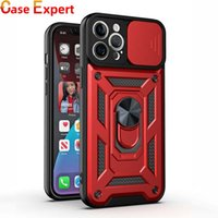 Slide Window Lens Protector Kickstand Ring Holder Hybrid Cases for iPhone 12 Pro MAX 11 XS XR Samsung Note 20 Ultra A20S Work with Magnetic Car Mount