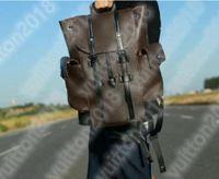 Christopher Backpack Luxurys مصمم حقيبة يد حقيبة الرجال النساء الكلاسيكية الجلود حقيبة مدرسية حقيبة الظهر حزمة