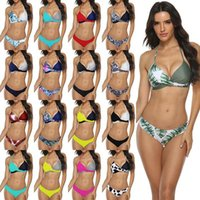 Kadınlar Seksi Bikini Seti Push Up Kadın Mayo Mayo Yüzmek Ayrı İki Parçalı Brezilyalı Mayo Büyük Artı Boyutu XXXL 1213 Z2