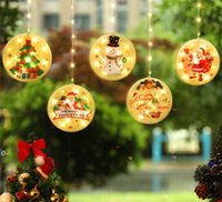 NEWLED string Christmas atmosphere curtain window decoration room decoration with painted hanging plate copper wire hanging suction cup RRF8