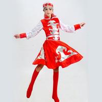 Sahne Giyim Çocuk Moğol Kostüm Dans Kadınlar Için Çin Etnik Moğolistan Elbise Bayan Azınlık Giyim Giyim 89 Hxal