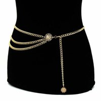 Belts 2021 Winter Gold Silver Color Layered Waist Chain Belly For Women Waists Sexy Body Dress Jewelry